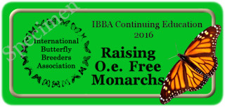 IBBA  Continuing Education Program Seals - Raising O.e. free Monarchs