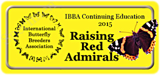 IBBA  Continuing Education Program Seals - Raising Red Admirals
